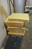 Bees wax arrives in blocks of wax.