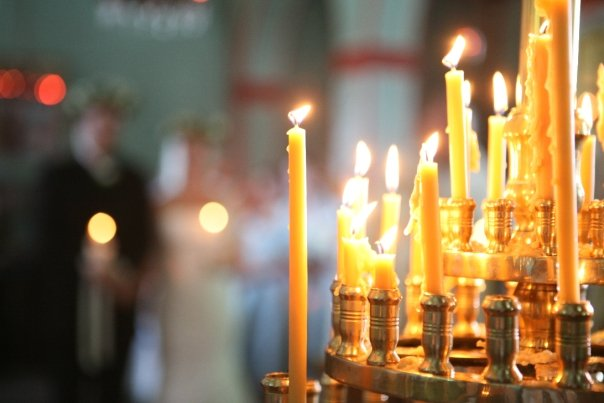 The candles of the Church prayer of the Orthodox Church paraffin